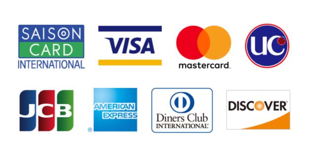 使えるクレジットの種類